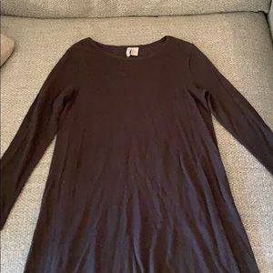 H&M High low see throw long sweater dress